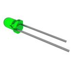 5mm Green Diffused LED Pkg/10