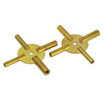2pc 4-IN-1 Universal Brass Clock Winding Key Set