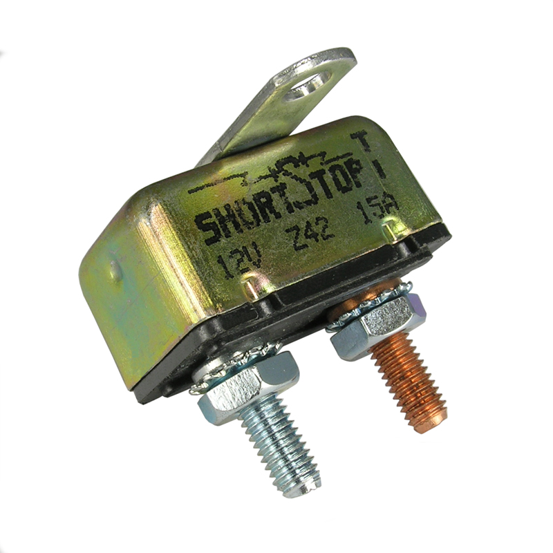 SHORTSTOP 12V 15A Circuit Breaker, 121A15A2M - Click Image to Close
