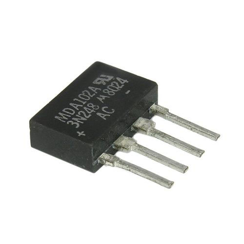 MDA102A 200V 1A In-Line Bridge Rectifier