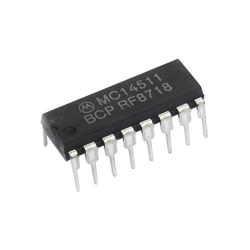 MC14511BCP BCD to 7-Segment Latch Decoder Driver
