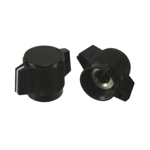"Black Pointer Knob With Indicator-1/4"" Shaft"