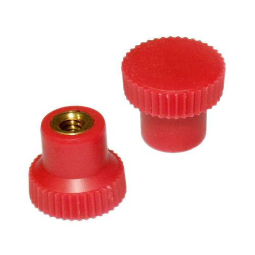 Small Red Knurled Pull Knob-8-32 Thread