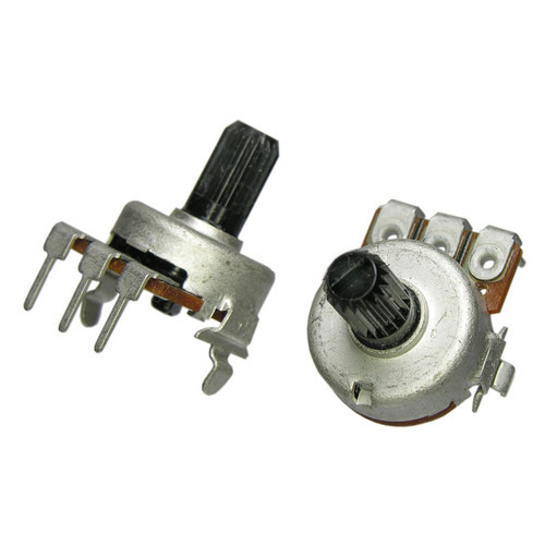 10K Linear Potentiometer w/Center Detent, PC Mount
