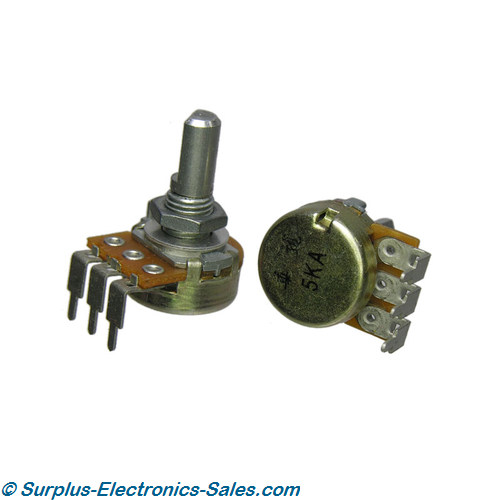 5K Ohm Audio Taper Potentiometer, 40 Detents