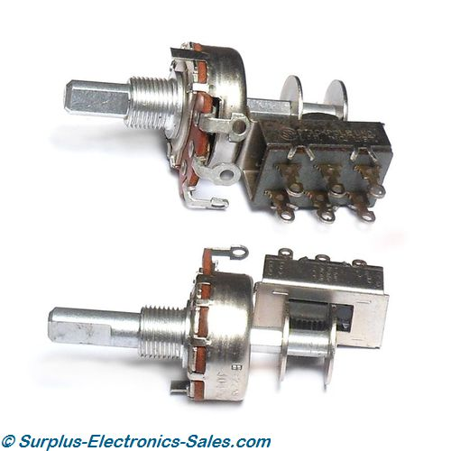 25K Potentiometer With Switch, Linear Taper