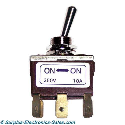 DPDT On/On Toggle Switch 250VAC 10A