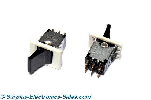 DPDT ON/ON Toggle Switch, 125Vac 5A