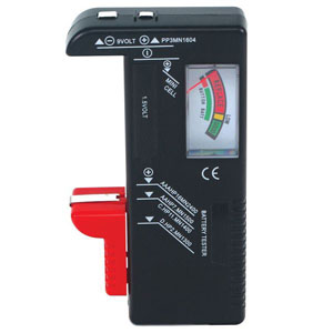 Battery Tester- AAA AA C D 9V & 1.5V Button Cell