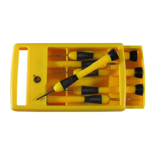 6pc Precision Screwdriver Set Phillips and Slotted